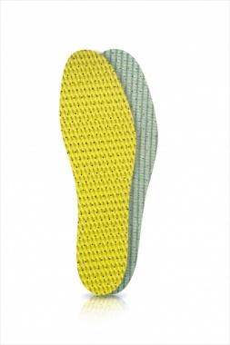 Wkładki do butów latex zielono-żółty