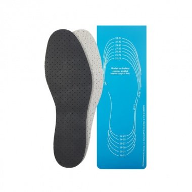 Wkładki do butów antypotne perforowane z węglem aktywnym do docięcia (dziecięce)